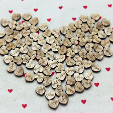 100pcs Mini Mixed Rustic Wooden Love Heart Wedding Table Scatter Home Decoration