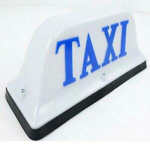 Decorate DC12V White Blue Tuk Tuk thailand Taxi Cab Top Sign Light Roof Lamp