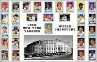 1952 New York Yankees Poster 11x17 - Mantle Rookie