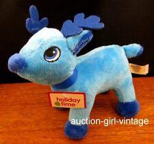 Plush Stuffed Reindeer Toy Stocking Stuffer Blue-A Xmas Gift Fast Free Ship NEW