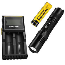 Combo: Nitecore P10GT Flashlight - 900Lm w/NL186 2600mAh Battery & D2 Charger