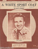 MARTY ROBBINS A White Sport Coat SHEET MUSIC