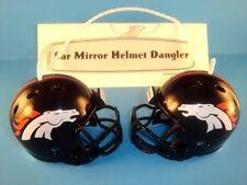 DENVER BRONCOS CAR MIRROR NFL FOOTBALL HELMET DANGLER - HANG FROM ANYTHING!