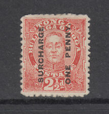 Tonga Sc 34 MNG. 1895 1p surcharge on 2½p red King George II