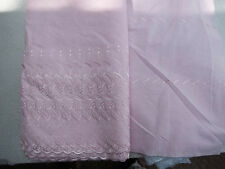 Baby Pastel PINK Embroidered Eyelet Fabric Scalloped Edge 43-44 Width BTY