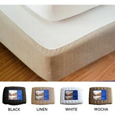 BRAND NEW SINGLE BED BOX SPRING COVER - 4 COLOURS - VALANCE - BEDSKIRT