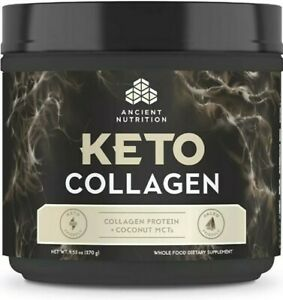 Ancient Nutrition Keto Collagen + Coconut MCT's 9.53oz Expires 8/2021