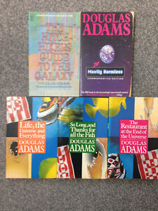 The Hitchhickers Series by Douglas Adams - 5 Book Collection