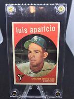 1959 Topps HOF Luis Aparicio #310 In EXCELLENT To NEAR MINT Condition