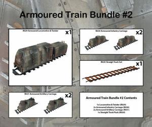 Railway WW2 Armoured Train Bundle 2 28mm R036