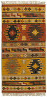 Chilim 90x60 CM TEPPICH KILIM NEW WOOL ORIGINAL HAND MADE #GalleriaFarah1970