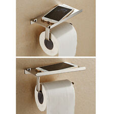 Polished Chrome Stainless Steel Bathroom Toilet Paper Holder Tissue Roll Bar Diy