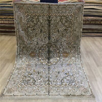Yilong 4'x6' Handmade Classic Silk Carpet Antique Hand knotted Area Rugs 016B