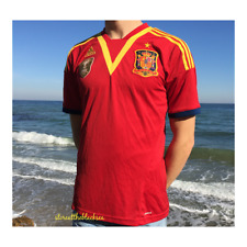 SPAIN NATIONAL TEAM 2013 2014 HOME FOOTBALL SOCCER SHIRT JERSEY CAMISETA ADIDAS