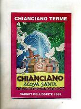 CHIANCIANO TERME - CARNET DELL'OSPITE # Azienda Autonoma di Cura 1989