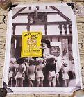 Vintage Denver Colorado Bull & Bush Brewery Collectible Wall Poster Beer 18 X 23