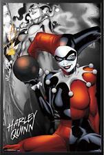 Batman Villain Harley Quinn Poster Dry Mounted in Black Wood Frame 24x36