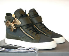 GIUSEPPE ZANOTTI HOMME gold eagle strap London shoes hi top sneakers 39.5 NEW