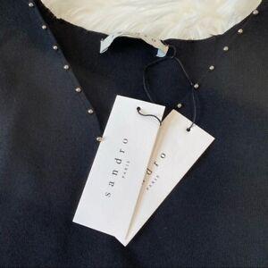 Sandro Paris Knit Embellished Blouse XS NWT