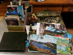 Mixed Lot of 337 US & International Postcards, Antique, Vintage, 20th Century ++