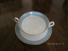 Royal Crown Derby Fifth Avenue Pattern Footed Cream Soup Bowl w/ Saucer
