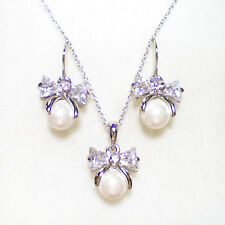 Fashion Jewelry - 18K White Gold Plated Imitation Pearl Set (FS040)