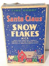 Vtg. Santa Claus Snow Flakes Mica Flakes Fireproof 3 oz. Scarce