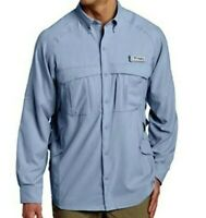 Columbia PFG Airgill Long Sleeve Mens Fishing Shirt UPF 40 Vented Omni-Shade NWT
