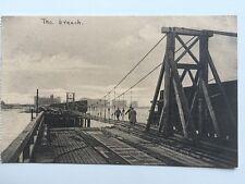 Vintage Postcard - Zeebrugge Museum - The Breach