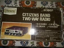 Cb Radio - Sears Roadtalker 40 with microphone and original box