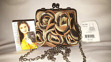 "BRIGHTON: ""VELVET ROSE "" Leather & Suede Pouch Bag  NWT Retail $110"