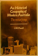 #CB, J M Powell  AN HISTORICAL GEOGRAPHY OF MODERN AUSTRALIA S/cover Postage ...