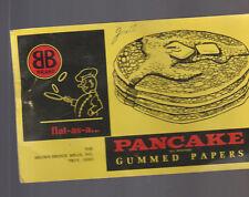 Pancake Gummed Papers Sample Brown Bridge Mills Troy Ohio 1961