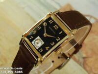 1948 Vintage HAMILTON PERRY, Stunning Black Dial, Serviced with warranty