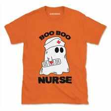 Boo Boo Nurse Tshirt Funny Halloween Witches Womens Mens