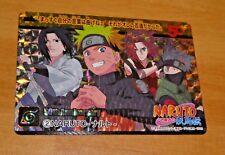NARUTO CARDDASS RARE SPECIAL CARD PRISM FOIL CARTE 2 MADE IN JAPAN MINT NEUF NEU