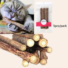 T 5stk Zahngesundheit Kitten natürliche Katzenminze Stick Pet Cat Stick Chew Toy