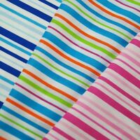Multi Coloured Candy Stripes Polycotton Fabric