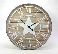 Horloges murales vintage/rétro marron pour le salon
