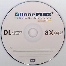 10 x Aone Gold Edition Dual Layer DVD+R DL 8X 8.5GB Disc pkd in Plastic Sleeve