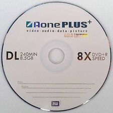 10 X Edition doble capa auno Gold DVD + R DL 8X 8.5GB disco PKD en funda de plástico