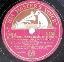 78 rpm 2 IMPORTED records N :   BIZET'S BALLET - JEUX D'ENFANTS - LONDON PHILH.