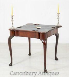 Georgian Card Table - Antique Mahogany Games Tables