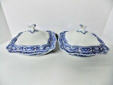 SATSUMA SOHO COBRIDGE ENGLAND RARE Antique Porcelain Covered Vegetable Bowls