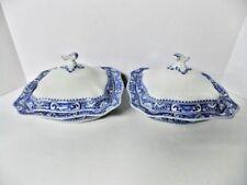 Antique SATSUMA SOHO COBRIDGE ENGLAND RARE Porcelain Covered Vegetable Bowls
