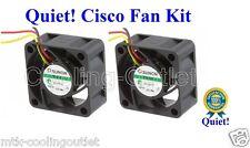 Cisco SG300-28P SG500-28P Super Quiet Replacement Fan Kit 2x new fans by Sunon