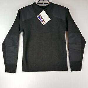 Blauer Mens Black Sweater Long Sleeve Crew Neck NWT Size XL Commando Police