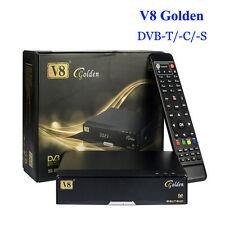 Freesat V8 Golden DVB S2/T2/C HD Satellite TV Receivers Support USB WIFI Youtube