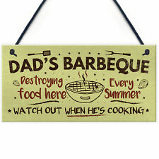 Dads Barbeque Garden Shed Sign SummerHouse Plaque Fathers Day Dad Gifts For Him
