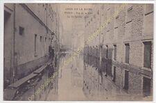 CPA 75005 PARIS Crue de la Seine 1910 rue de la Clef animé Edit ELD